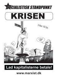manifest om finanskrisen - Socialistisk Standpunkt