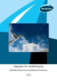 Vandregulativ for Gentofte og Gladsaxe 08.09.2010 - Nordvand