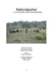 Nationalparker - et nyt koncept i dansk naturbeskyttelse - Centre for ...
