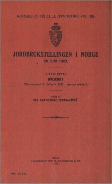 VIII 188 1929 Hefte 4. Oversikt.