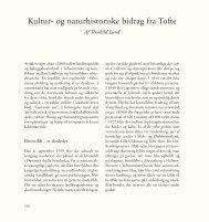 Kultur- og naturhistoriske bidrag fra Tofte