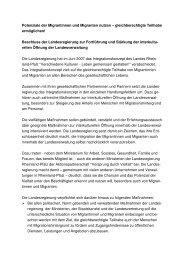 Beschluss der Landesregierung zur - Ministerium für Integration ...