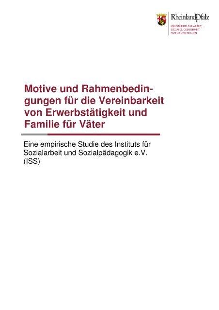 Ergebnisse der Väterstudie - Ministerium für Integration, Familie ...