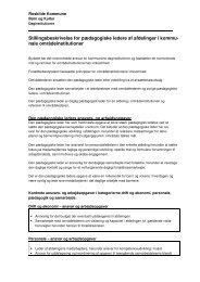 Stillingsbeskrivelse for pædagogiske ledere af afdelinger i ... - Alia