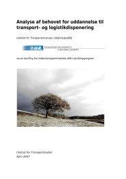 Analyse af behovet for uddannelse til transport - Transporterhvervets ...