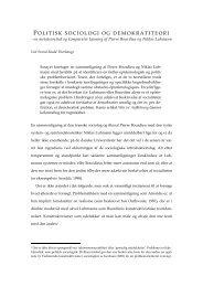 Mellem politisk sociologi og demokratiteori - Svend Thorhauge