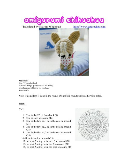 Chihuahua Amigurumi - Dog Crochet Pattern - FREE - Ami Amour | 640x495
