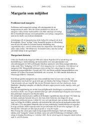 Margarin som miljöhot - iFokus