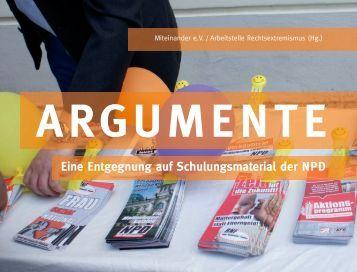 Argumente (PDF, 3 MB) - Miteinander e.V.