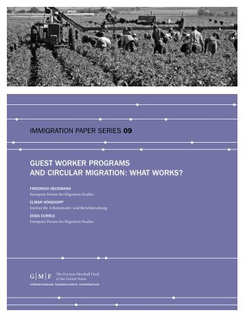 GUEST WORKER PROGRAMS AND CIRCULAR ... - Migration-online