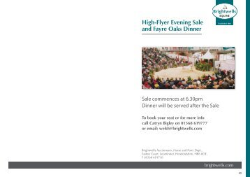 high flyer evening sale and fayre oaks dinner brightwells