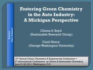 Presentation PDF - Michigan Green Chemistry Clearinghouse