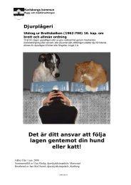 Det är ditt ansvar att följa lagen gentemot din hund eller katt! - iFokus