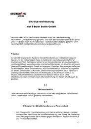 Betriebsvereinbarung der S-Bahn Berlin GmbH - Migration-online