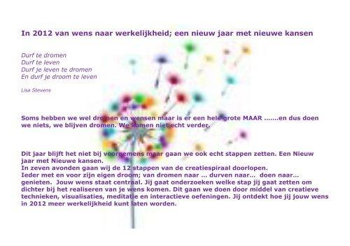 In 2012 van wens naar werkelijkheid; een nieuw jaar met nieuwe ...