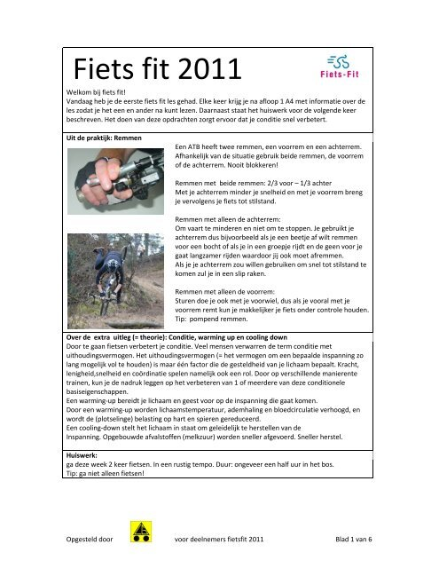 Fiets fit 2011 - Welkom!