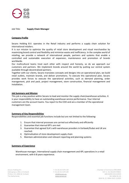 Intermediary Services Contract