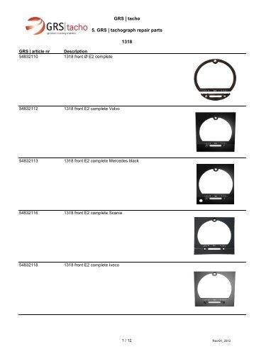 GRS | tacho 5. GRS | tachograph repair parts 1318