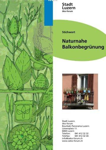 Naturnahe Balkonbegrünung - öko-forum Umweltberatung Luzern