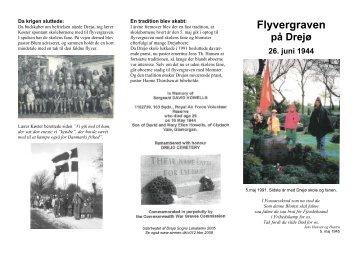 folder om Flyvergraven på Drejø - Allierede flyvere 1939-45 DK