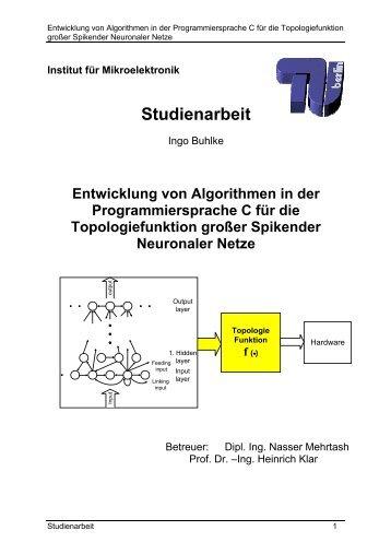 Studienarbeit - FG Mikroelektronik, TU Berlin