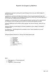 Regulativ for Glyngøre Lystbådehavn - Sallingsund Sejlklub