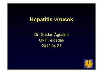 Hepatitis vírusok