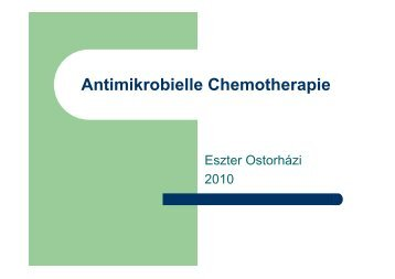 Antibakterielle Chemotherapie