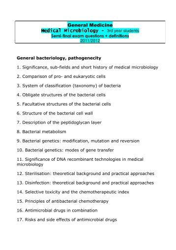 short essay questions in microbiology Short answer types questions on heredity and evolution (biology) short answer type questions essays, letters.