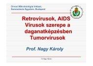 Retrovírusok, AIDS Vírusok szerepe a daganatképzésben ...