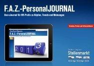Das F.A.Z.-PersonalJOURNAL 2013.