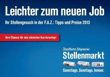 Leichter zum neuen Job - FAZ.net