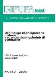 459 - Institut for Natur, Systemer og Modeller (NSM) - Roskilde ...