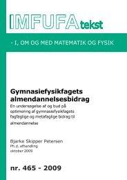 465 - Institut for Natur, Systemer og Modeller (NSM) - Roskilde ...