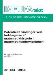 483 - Institut for Natur, Systemer og Modeller (NSM) - Roskilde ...
