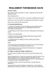 Åbn reglement som PDF - Mosede Havn