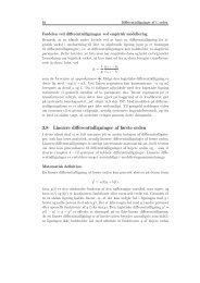 3.8 Lineære differentialligninger af første orden - Institut for Natur ...