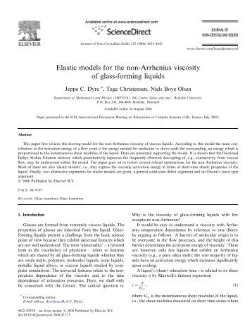 Elastic models for the non-Arrhenius viscosity of glass-forming liquids