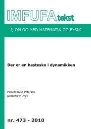 473 - Institut for Natur, Systemer og Modeller (NSM) - Roskilde ...
