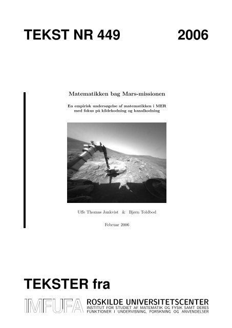 449 - Institut for Natur, Systemer og Modeller (NSM)
