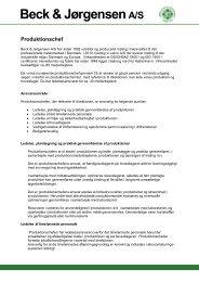 Produktionschef Jobbeskrivelse Hjemmeside - Beck & Jørgensen