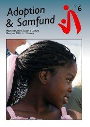 Arbejdsprogram 2008 - Adoption og Samfund