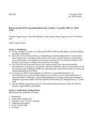 MAT/SN 4. december 2003 j.nr. 2003-68-064/ Referat af møde 03/10 ...