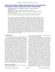 Experimental studies of Debye-like process and structural relaxation ...