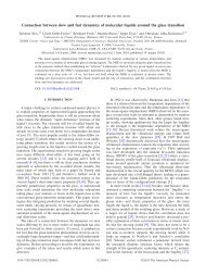 Phys. Rev. E 82, 021508 (2010): Connection between slow and fast ...