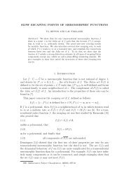 SLOW ESCAPING POINTS OF MEROMORPHIC FUNCTIONS 1 ...