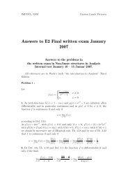 Answers to E2 Final written exam January 2007