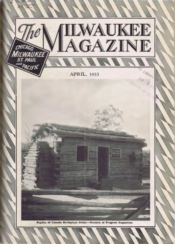 April, 1933 - Milwaukee Road Archive