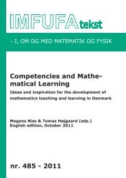 Competencies and Mathematical Learning - PURE
