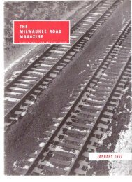January, 1957 - Milwaukee Road Archive